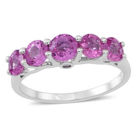 ILIANA 18K W Gold AAA Pink Sapphire (Rnd 0.60 Ct), Diamond (SI/G-H) Ring 2.500 Ct.
