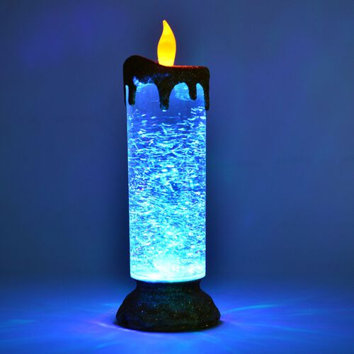 Home Decor 4 Colour Changing Led Glitter Flameless Candle Size Cm Tjc