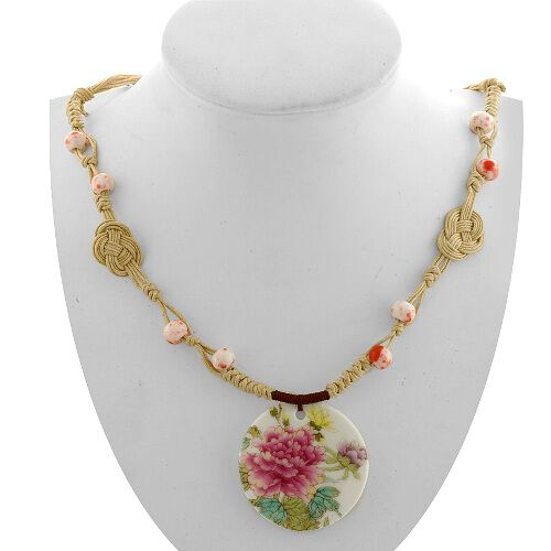 Designer Ceramic Necklace (Size 24)