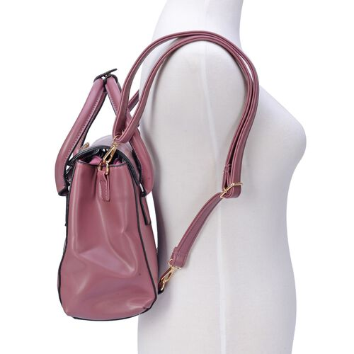 Sunkiss Rose Multi-function Ammonite Bag With Adjustable and Removable Shoulder Strap (Size 30x23x9 Cm)