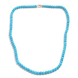 10K Y Gold Arizona Sleeping Beauty Turquoise Necklace (Size 20) 88.830 Ct.