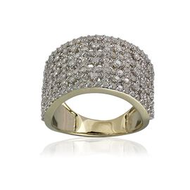 9K Y Gold SGL Certified Diamond (Rnd) (I3 /G-H) Cluster Ring 1.500 Ct.