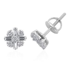 ILIANA 18K W Gold Diamond (Bgt) (SI/G-H) Stud Earrings (with Screw Back) 0.500  Ct.