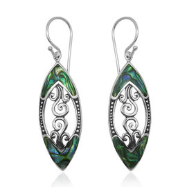 Royal Bali Collection Abalone Shell Hook Earrings in Sterling Silver 8.000 Ct.