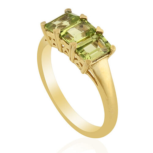 KARIS    Hebei Peridot (1.50 Ct) Gold Bond Brass Ring