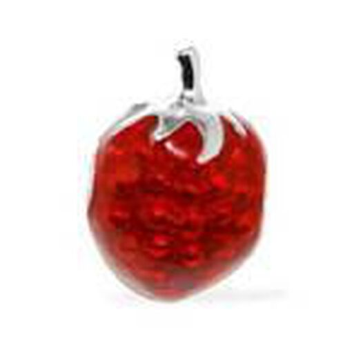 RACHEL GALLEY Sterling Silver Strawberry Bead Charm Pendant