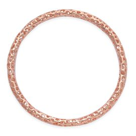 RACHEL GALLEY Rose Gold Overlay Sterling Silver Allegro Bangle (Size 67mm / Large), Silver wt 18.62 Gms.