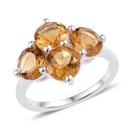 Citrine (Rnd) Ring in Sterling Silver 3.000 Ct.