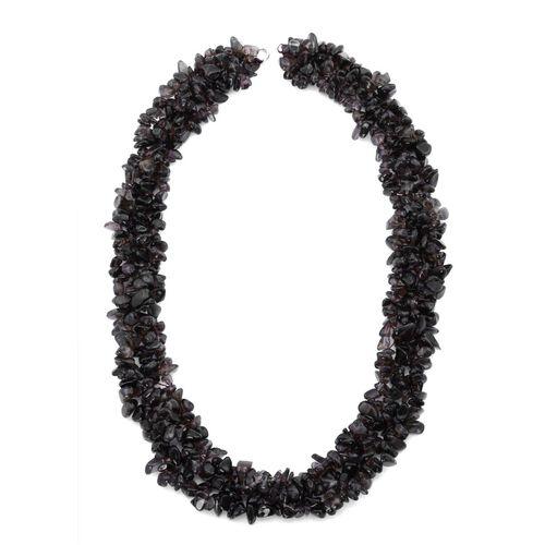 Brazilian Smoky Quartz Necklace (Size 18) and Stretchable Bracelet (Size 7) in Sterling Silver 250.000 Ct.