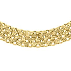 Close Out Deal 9K Y Gold Bismark Necklace (Size 17), Gold wt 11.10 Gms.