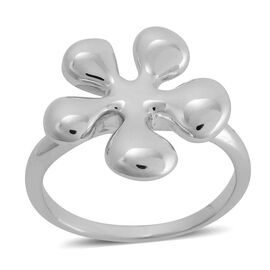 LucyQ Splat Ring in Rhodium Plated Sterling Silver 4.92 Gms.