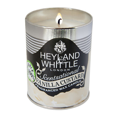 Heyland and Whittle 458 Kitchen and Garden Candle Vanilla Custard 250g Tin