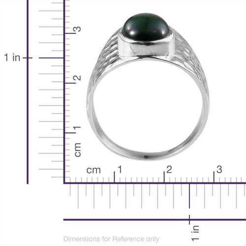 Jewels of India Malachite (Ovl) Ring in Sterling Silver 3.990 Ct.