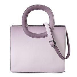 Dark Pink Colour Tote Bag with Adjustable Shoulder Strap (Size 29x24.5x11 Cm)