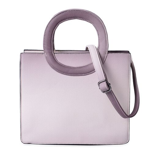 Dark Pink Colour Tote Bag with Adjustable Shoulder Strap (Size 29x24.5x11 Cm)