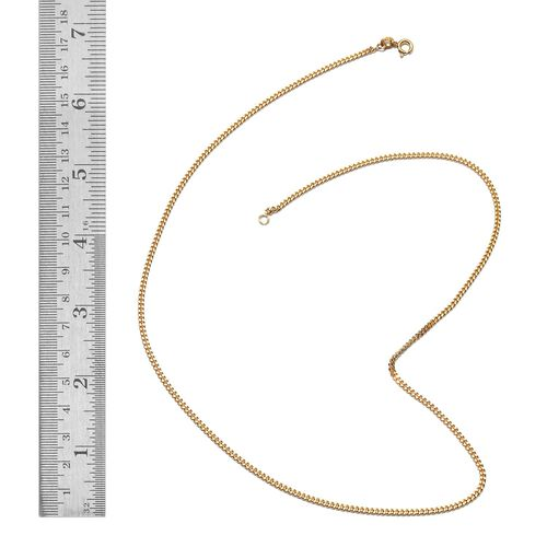 JCK Vegas 2017 - Yellow Gold Overlay Sterling Silver Curb Necklace (Size 20), Silver wt 5.50 Gms.