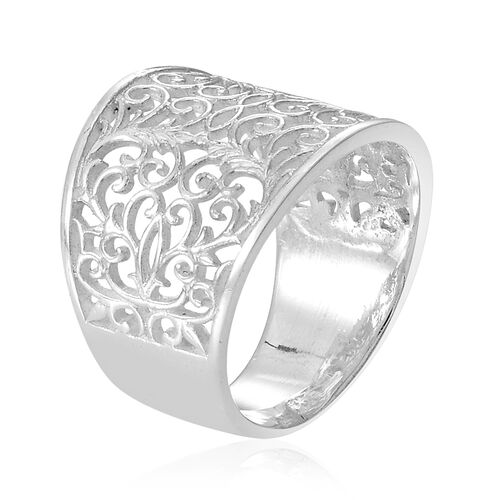Thai Sterling Silver Filigree Ring, Silver wt 5.15 Gms.