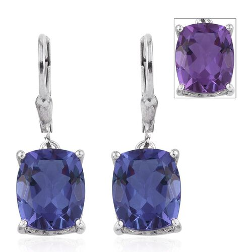 Lavender Alexite (Cush) Lever Back Earrings in Platinum Overlay Sterling Silver 7.500 Ct.
