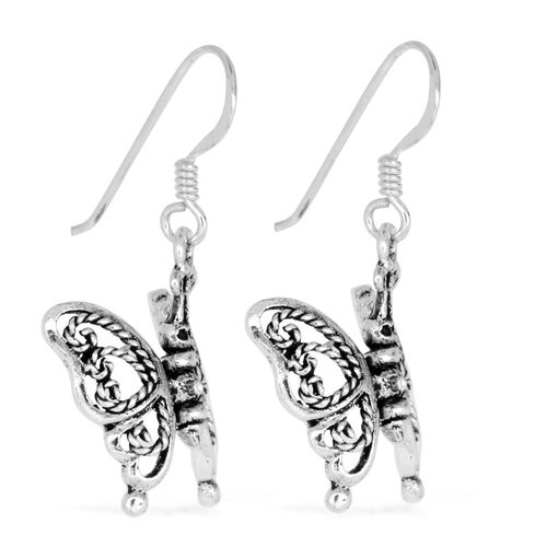 Thai Sterling Silver Earrings, Silver wt 3.42 Gms.