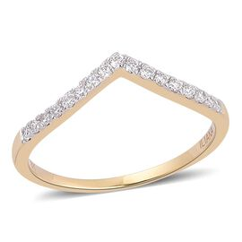 ILIANA 18K Yellow Gold 0.50 Carat IGI Certified Diamond SI G-H Wishbone Ring