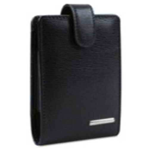 Genuine Leather Black Colour Mobile Cover with Secure Strap