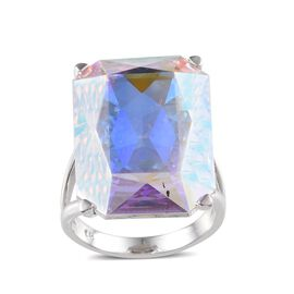 Crystal from Swarovski - AB Crystal (Oct) Ring in ION Plated Platinum Bond 26.500 Ct.