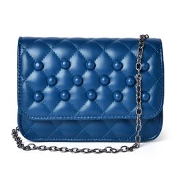 Nano Royal Blue Quilted Shoulder Bag (Size 20x15x8 Cm)