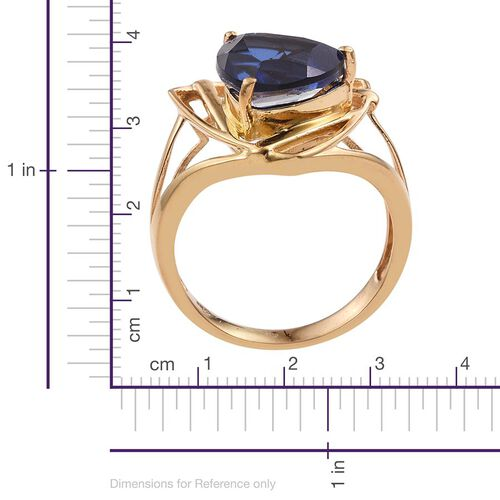 Ceylon Colour Quartz (Trl) Solitaire Ring in 14K Gold Overlay Sterling Silver 5.250 Ct.