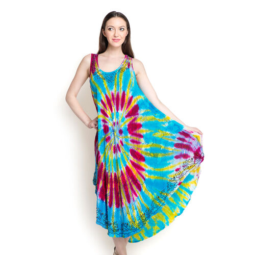 Floral Pattern Multi Colour Embroidered Poncho (Size 110 Cm)