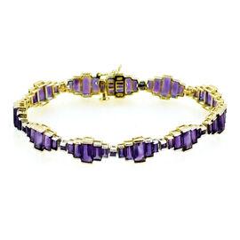 Zambian Amethyst (Bgt) Bracelet in 14K Gold Overlay Sterling Silver (Size 7.75) 20.000 Ct.