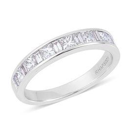 RHAPSODY 950 Platinum IGI Certified Diamond (Sqr) (VS/E-F) Ring 1.000 Ct.
