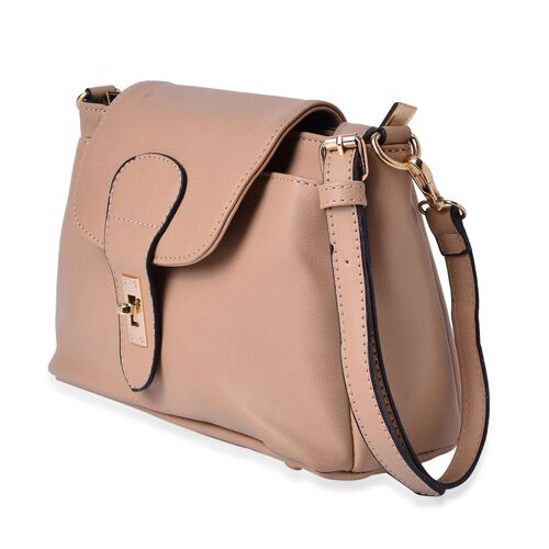 Kingston Camel Colour Crossbody Bag with Adjustable and Removable Shoulder Strap (Size 24x18x11 Cm)