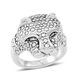 Thai Statement Collection Inspired Sterling Silver Leopard Ring, Silver wt 5.61 Gms.