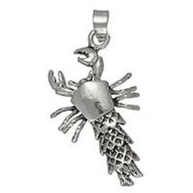 Thai Sterling Silver Lobster Pendant, Silver wt 5.38 Gms.