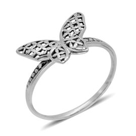 Hand Made Royal Bali Collection Sterling Silver Butterfly Ring