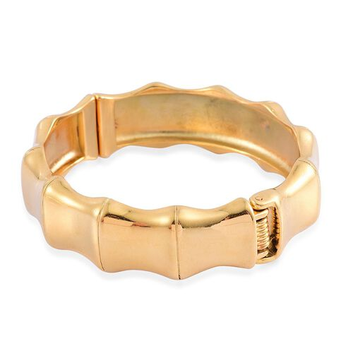 Designer Inspired Bamboo Bangle (Size 7.5) in Gold Tone