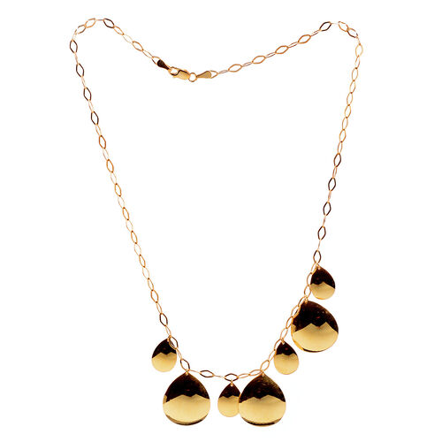 Close Out Deal 14K Gold Overlay Sterling Silver Necklace (Size 18), Silver wt 11.30 Gms.