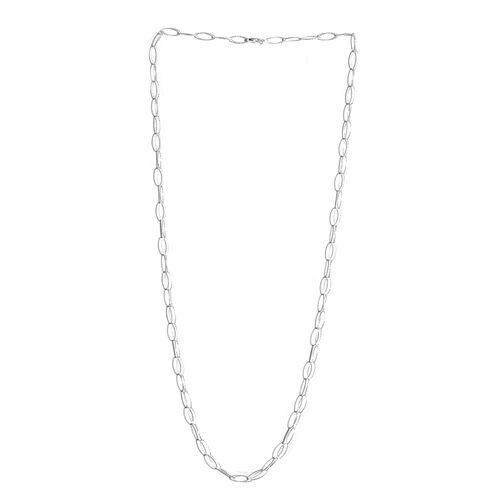 JCK Vegas Collection Sterling Silver Diamond Cut Open Circle Necklace (Size 30), Silver wt 6.00 Gms.