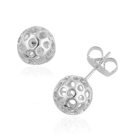 RACHEL GALLEY Globe Stud Earrings (with Push Back) in Sterling Silver.