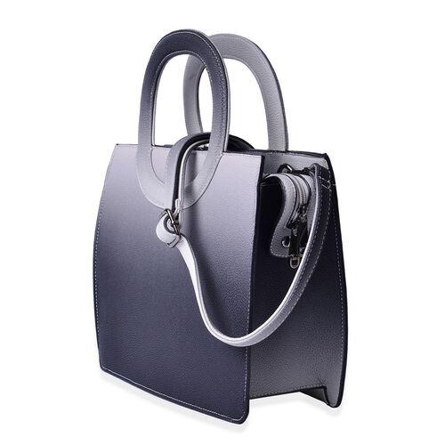 Grey Colour Tote Bag with Adjustable Shoulder Strap (Size 29x24.5x11 Cm)