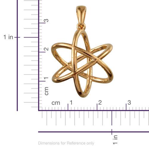 Designer Inspired 14K Gold Overlay Sterling Silver Pendant, Silver wt 4.25 Gms.