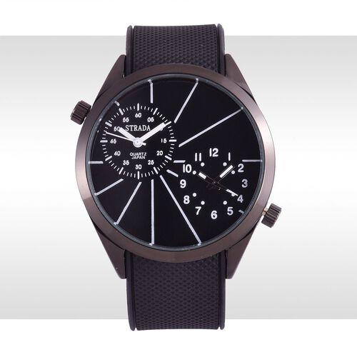 STRADA Dual Time Watch - Black