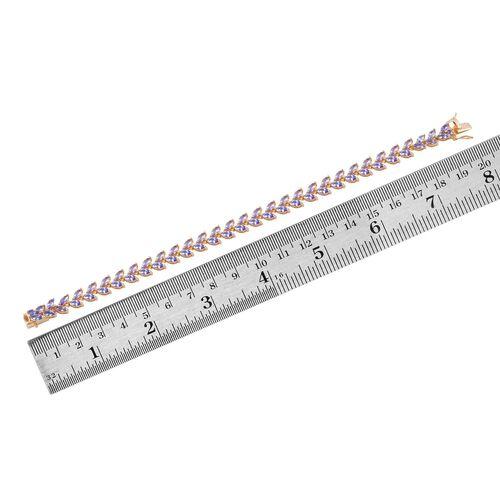 AA Tanzanite (Mrq) Bracelet (Size 7) in 14K Gold Overlay Sterling Silver 8.250 Ct.