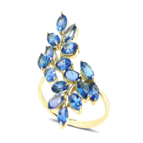 9K Y Gold Tanzanite (Ovl) Crossover Ring 3.750 Ct.
