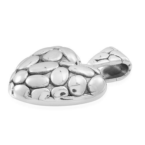 Thai Sterling Silver Heart Pendant, Silver wt 5.03 Gms.