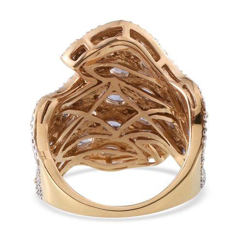 Tanzanite (Ovl) Ring in 14K Gold Overlay Sterling Silver 3.500 Ct.