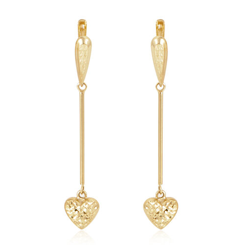 9K Y Gold Earrings (with Clasp), Gold wt 2.00 Gms.