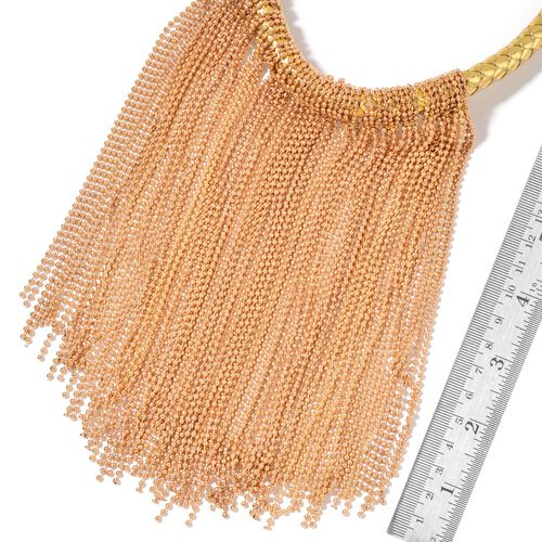 Waterfall Necklace (Size 18 with 2 inch Extender) in Gold Tone