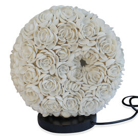 Royal Bali Collection Handmade Oval Shaped Sea Shell Flower Table Lamp (upto 25 Watt)