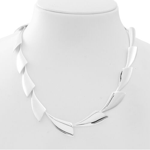 Designer Inspired-Sterling Silver Continual Wing Necklace (Size 18 with 2 inch Extender), Silver wt 38.00 Gms.